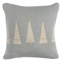 Чехол на подушку вязаный с новогодним рисунком Christmas tree из коллекции New Year Essential, 45х45 см, 45x45 - Tkano