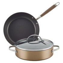 Набор кухонной посуды Anolon Advanced Home (сотейник 2,8л , сковорода 25см , крышка) - Anolon