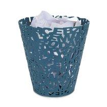 Корзина для бумаг Letters синяя, цвет синий - Balvi
