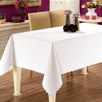 Скатерть Karna Prapitka Gofrali тефлон, цвет белый, 160x210 - Karna (Bilge Tekstil)