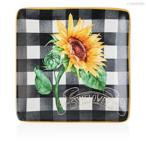 Тарелка пирожковая Certified Int. Подсолнухи. Sunflower 15см, керамика - Certified International