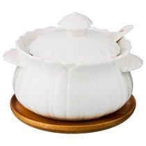 Сахарница С Ложкой 350 Мл Диаметр 12 См Высота 10 См - Yinhe Ceramics
