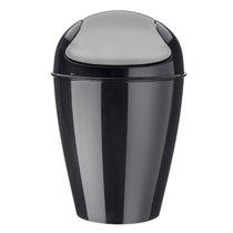 Корзина для мусора с крышкой DEL M, 12 л, чёрная - Koziol