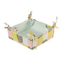 Корзинка для хлеба из хлопка мятного цвета с принтом Passion Arch из коллекции Wild, 35х35 см - Tkano