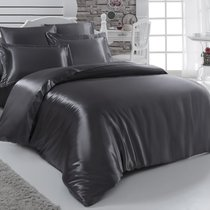 Постельное белье Karna Arin, шелк, цвет темно-серый, 2-спальный - Bilge Tekstil