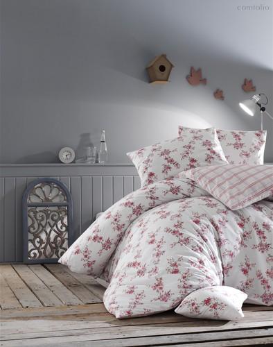 Постельное белье Ranforce Clair, цвет красный, размер 1.5-спальный - Altinbasak Tekstil