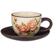 Чайный Набор На 1 Персону Корейская Роза 15x15 см Высота 7 см / 220 мл - Huachen Ceramics
