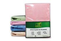 ПР-ПО-Р-090-РОЗ Розовая простыня Поплин однотонная на резинке 90х200х25, цвет розовый - АльВиТек