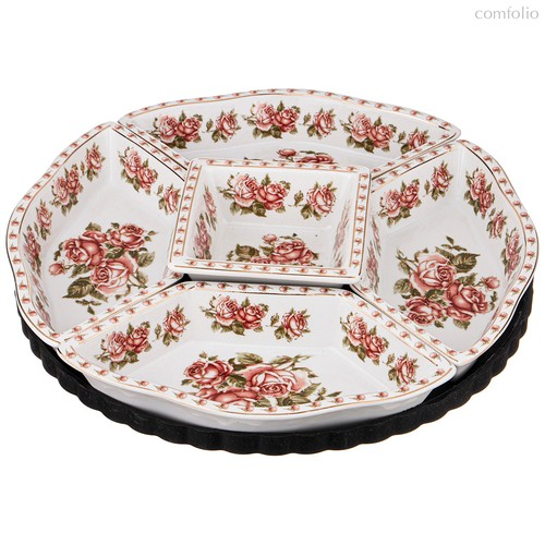 Менажница Lefard Корейская Роза 5-Секционная 30,5 см - Guangdong Xiongxing Home Furnishing Ceramics