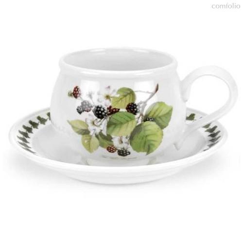 "Чашка для завтрака с блюдцем Portmeirion ""Помона. Ежевика"" 270мл - Portmeirion"