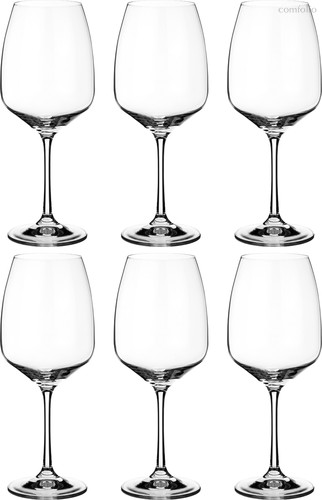 Набор бокалов для вина из 6 шт. GISELLE 560 мл ВЫСОТА 23 см (КОР 8Набор.) - Crystalex