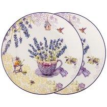 Набор Тарелок Закусочных Прованс Лаванда, цвет лавандовый, 20 см - Meizhou Yuesenyuan