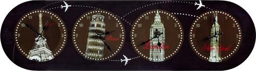 Часы Настенные С Мировым Временем 34x120 см - Guangzhou Weihong