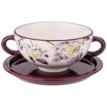 Бульонница Пурпур 19x14x7 см / 520 мл - Huachen Ceramics