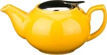 Заварочный чайник С Металлической Крышкой 600 мл, цвет желтый - Hebei Grinding Wheel Factory