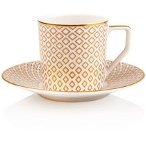 "Чашка для эспрессо с блюдцем 70мл ""Францис Карро Беж"" - Rosenthal"