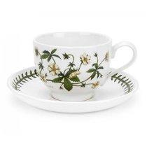 "Чашка чайная с блюдцем Portmeirion ""Ботанический сад. Лапчатка"" 280мл - Portmeirion"