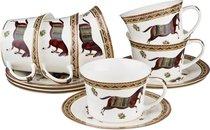 Чайный Набор Лошадь на 6 Персон 12 Пр. 240 мл - Kingensin Porcelain Industrial