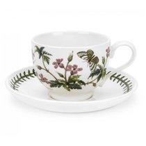 """Чашка чайная с блюдцем Portmeirion """"Ботанический сад. Герань"""" 280мл - Portmeirion"""