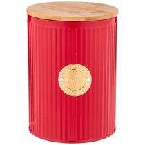 Емкость для сыпучих продуктов agness тюдор кофе 1,3 л диаметр 11 см высота 15 см - Agness