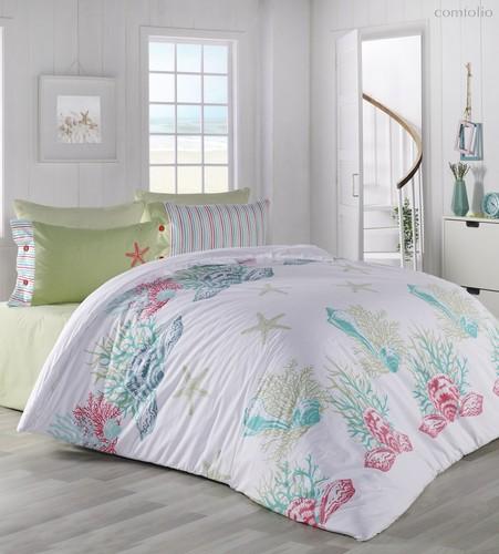 Постельное белье Ranforce Deniz Yildiz, цвет бирюзовый, 2-спальный - Altinbasak Tekstil