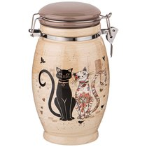 Емкость Для Сыпучих Продуктов Парижские Коты Высота 20 см / 1100 мл - Huachen Ceramics
