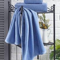 """Полотенце махровое """"KARNA"""" EFOR 420 гр (70x140) см 1/1, цвет голубой, 70x140 - Bilge Tekstil"""