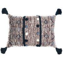 Подушка декоративная с помпонами и кисточками Ethnic, 40х60 см - Tkano