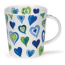 """Кружка Dunoon """"Влюблённые сердца.Ломонд"""" 320мл (голубая) - Dunoon"""