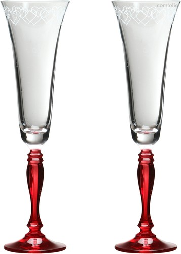 Набор бокалов для шампанского из 2 шт. LOVE 180 мл ВЫСОТА 25 см (КОР 12Набор.) - Crystalex