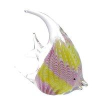 Фигурка Желто-сиреневая скалярия 22х20см - Art Glass