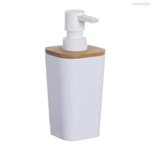 Дозатор для жидкого мыла Bamboo 350мл, цвет белый - D'casa