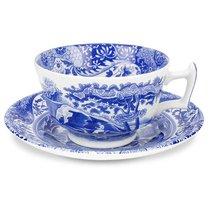 """Чашка чайная с блюдцем 200мл """"Голубая Италия"""" - Spode"""