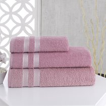 Полотенце махровое Karna Petek, цвет розовый, 70x140 - Bilge Tekstil