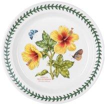 """Тарелка обеденная Portmeirion """"Ботанический сад.Экзотические цветы. Гибискус"""" 25см - Portmeirion"""