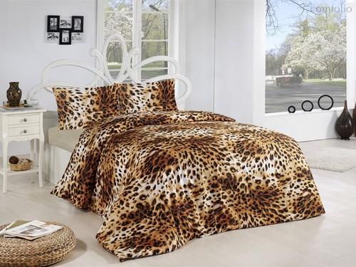 Постельное белье Ranforce Leopar, цвет коричневый, размер 1.5-спальный - Altinbasak Tekstil