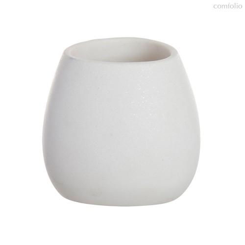 Стакан для зубных щеток Arena Stone белый, цвет белый - D'casa