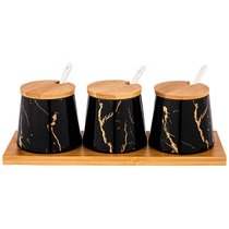 Набор Для Специй 7 Предметов Lefard Fantasy Черный - Towin Ceramics