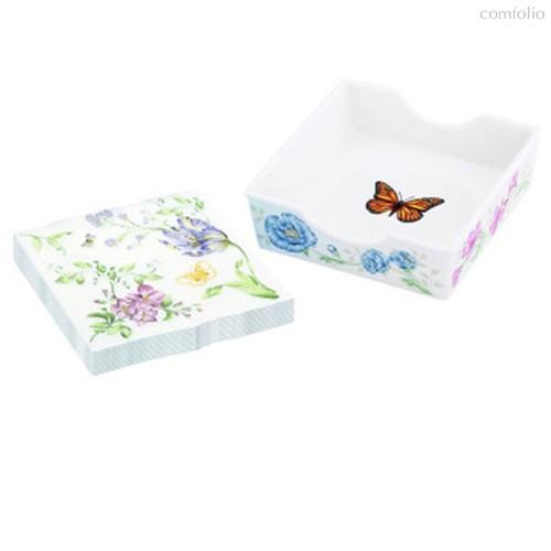 """Подставка для салфеток Lenox """"Бабочки на лугу"""" 12см - Lenox"""