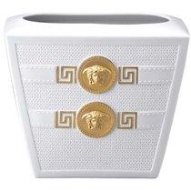"Ваза 18см ""Символ Версаче"" (белая, золотая Медуза) - Rosenthal"