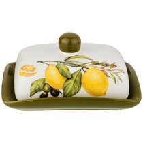 Масленка Лемон Три 17x12,5 см Высота 8,5 см - Huachen Ceramics