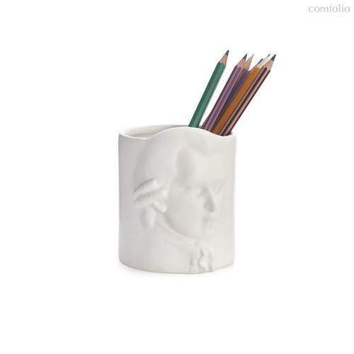 Подставка для канцелярских принадлежностей Amadeus Mozart, цвет белый - Balvi
