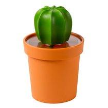 Емкость для хранения Cacnister с ложкой, оранжевая с зеленым - Qualy