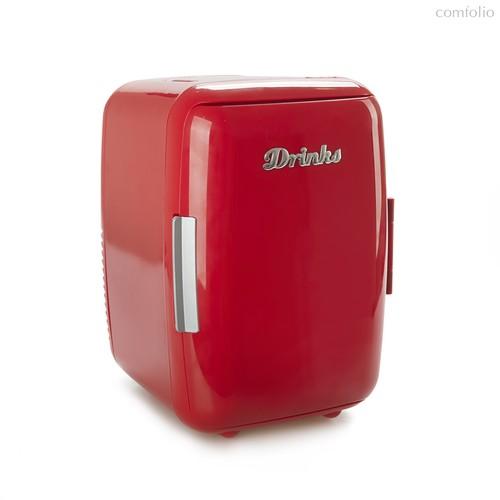 Мини-холодильник Drinks 12V/220V красный, цвет красный - Balvi