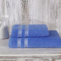 Полотенце махровое Karna Petek, цвет голубой, 50x100 - Karna (Bilge Tekstil)