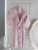 Набор халат PHILIPPUS BAMBOO c гипюром и с капюшоном в короб.1 пред. L, цвет розовый - Meteor Textile