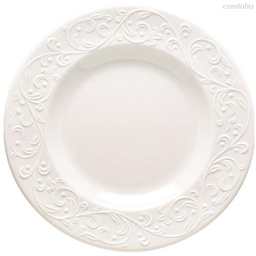 """Тарелка акцентная Lenox """"Чистый опал, рельеф"""" 24см, цвет белый, 24 см - Lenox"""