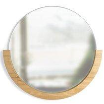 Настенное зеркало Mira D82 натуральное дерево - Umbra