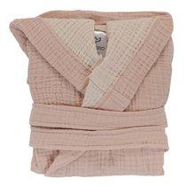 Халат из жатого хлопка цвета пыльной розы из коллекции Essential 18-24M - Tkano