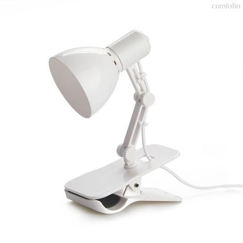 Лампа для чтения Clamp белая, USB, цвет белый - Balvi